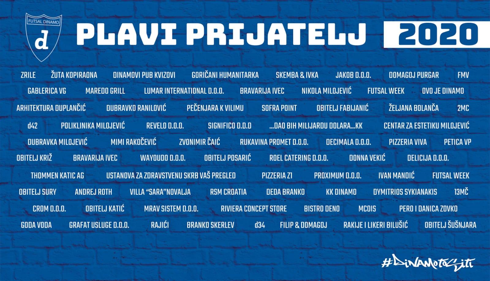 Plavi zid Futsal Dinama