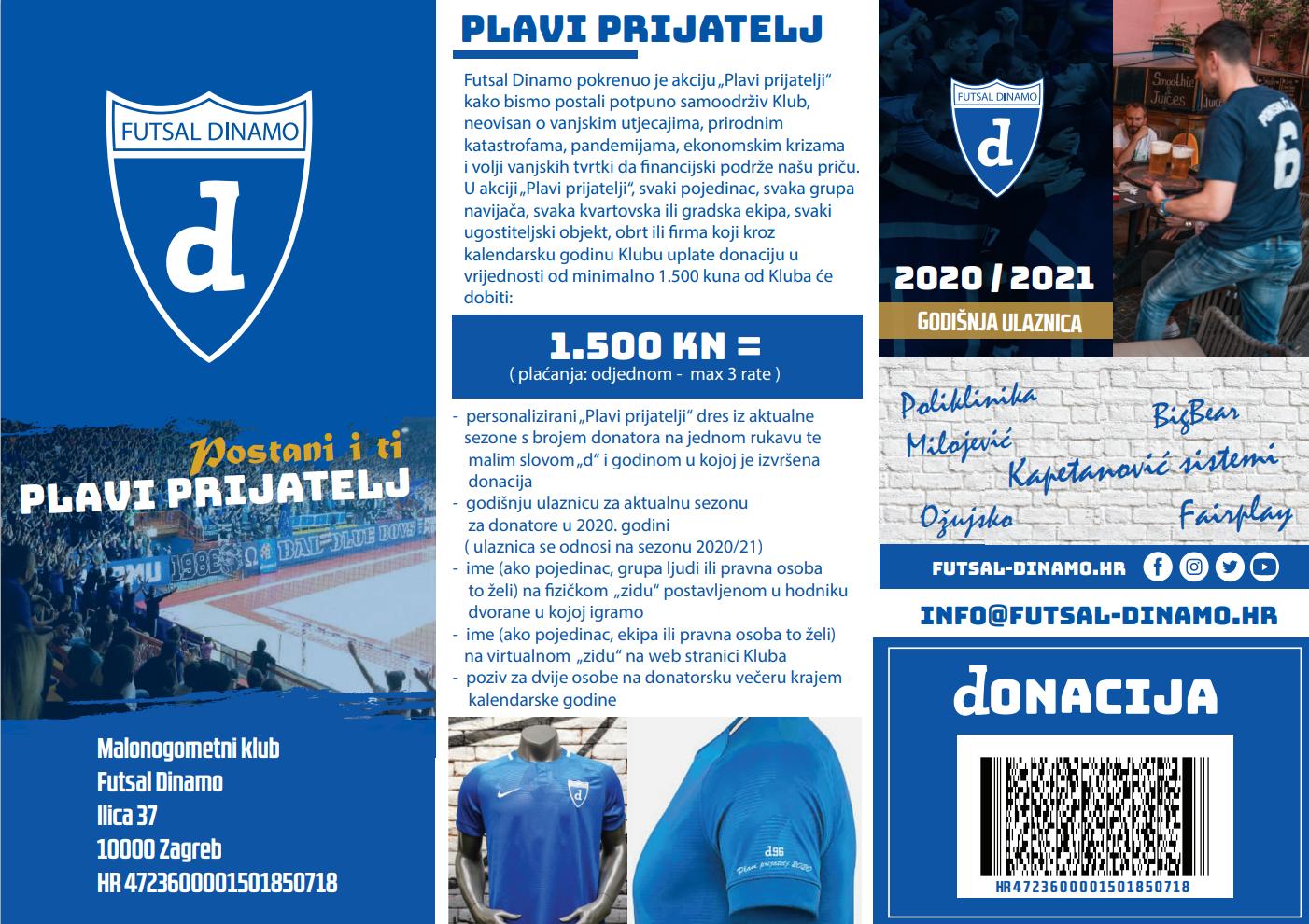 Brošura - Plavi prijatelj Futsal Dinama