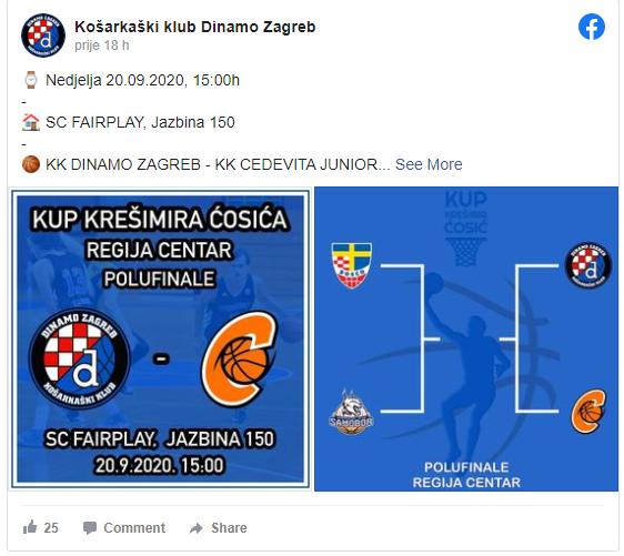 Dvije Dinamove utakmice - KK Dinamo
