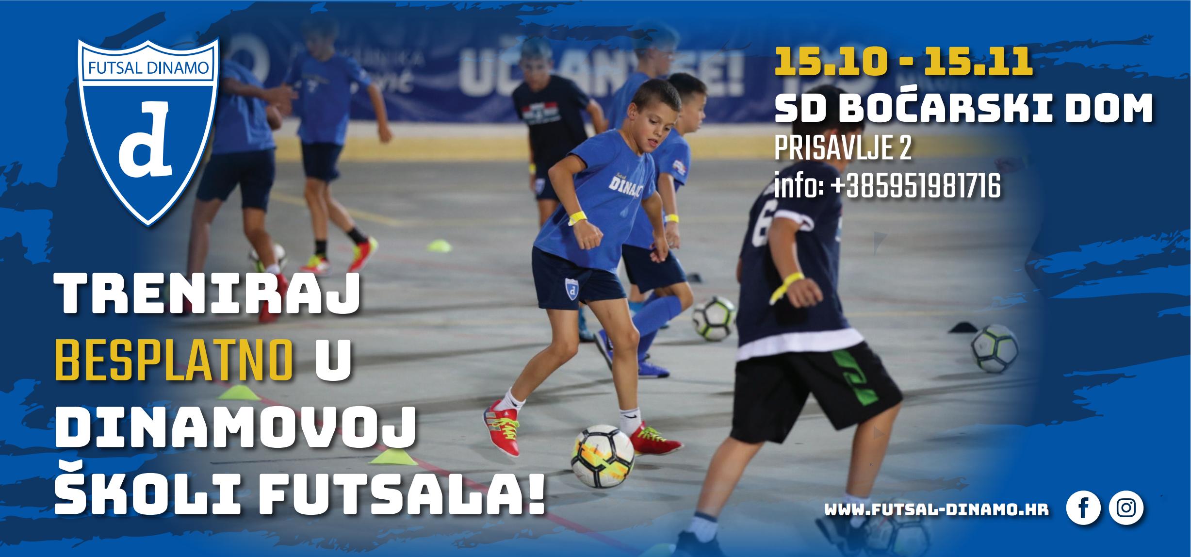 Treniraj besplatno u Dinamovoj Školi