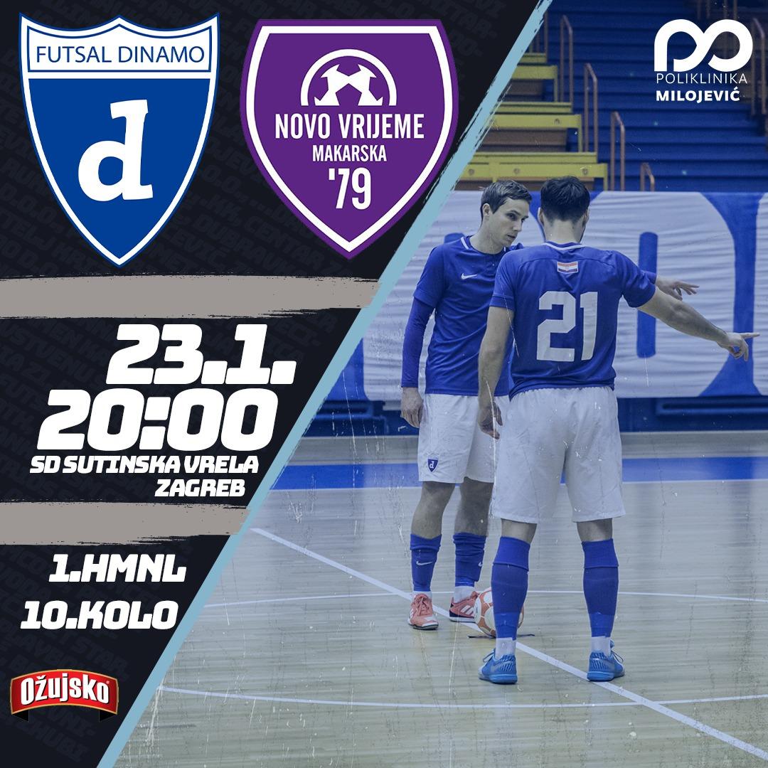 Futsal Dinamo - Novo Vrijeme, izravni prijenos na YouTube kanalu